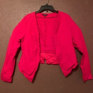 Hot pink soft blazer from torrid